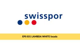 Swisspor LAMBDA WHITE fasada, styropian grafitowy z powłoką ochronną na elewację