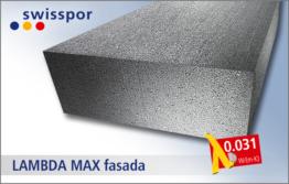 Swisspor EPS 031 LAMBDA MAX fasada twardy styropian grafitowy do ocieplenia ścian