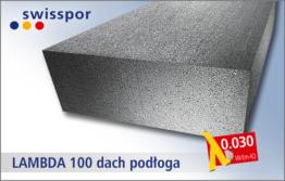 Swisspor EPS 100-030 LAMBDA 100 dach podłoga - twardy grafitowy styropian pod wylewkę