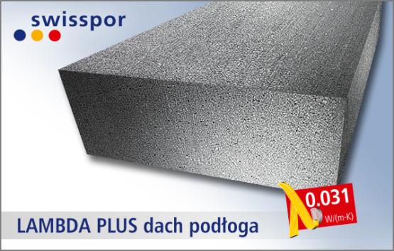 Swisspor EPS 60-031 PLUS dach podłoga - styropian grafitowy na dach i podłogę