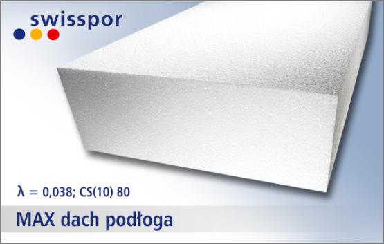 Swisspor EPS 80 MAX dach podłoga - biały styropian pod wylewkę