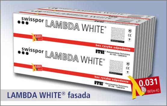 Swisspor LAMBDA WHITE fasada - styropian grafitowy z powłoką ochronną