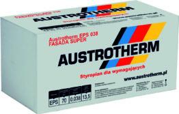 Austrotherm Fasada Super. Styropian na elewację, lambda 0,038