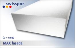 EPS 040 MAX fasada marki Swisspor biały styropian do ocieplenia elewacji