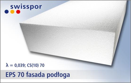 Swisspor EPS 70-039. Uniwersalny biały styropian na fasadę i podłogę
