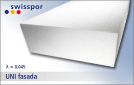 EPS 045 UNI fasada marki Swisspor - biały styropian elewacyjny