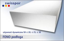 Fonopodłoga marki Swisspor - biały styropian akustyczny na podłogę