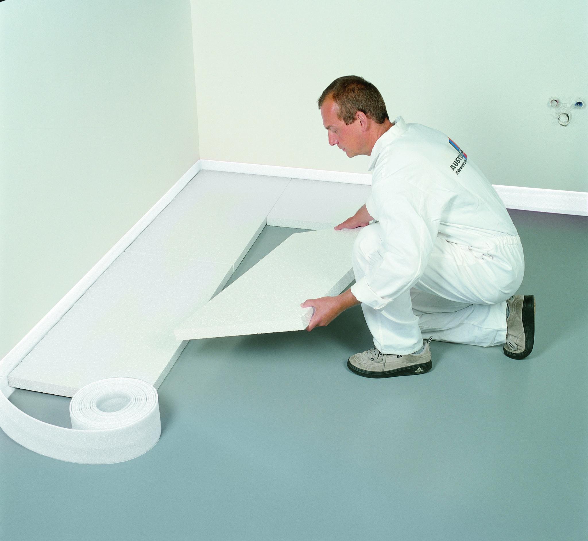 EPS 100 - montaż styropianu podłogowego