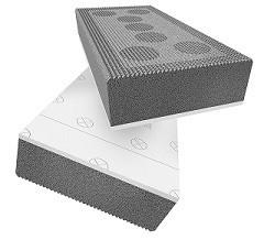 Swisspor LAMBDA MEGA WHITE fasada - styropian grafitowy z karbowaną stroną klejenia i białą powłoką ochronną od strony zewnętrznej - nie wymaga osłon