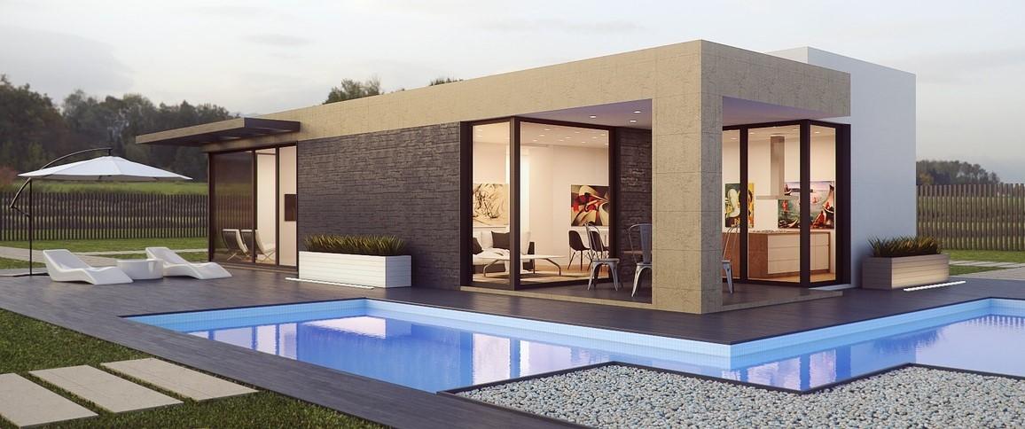 Domy pasywne charakteryzują się prostymi bryłami. Przy ich projektowaniu rezygnuje się np. z balkonów, gdyż izolacja i ocieplenie takich miejsc jest trudna.