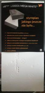 LAMBDA MEGA WHITE fasada - biała strona zewnętrzna z owijką producenta Swisspor
