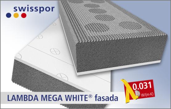 Lambda Mega White marki Swisspor, styropian XXI wieku