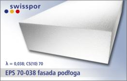 EPS 70-038 fasada, podłoga - uniwersalny biały styropian marki Swisspor