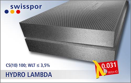 Swisspor HYDRO LAMBDA - właściwości styropianu