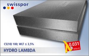 HYDRO LAMBDA - grafitowy styropian na fundamenty, CS(10)100, lambda 0,031, WLT≤3,5%