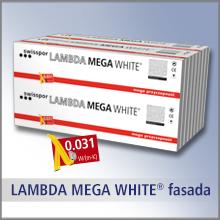 LAMBDA MEGA WHITE FASADA - lambda 0,031, TR 150, biała powłoka ochronna