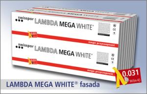 LAMBDA MEGA WHITE FASADA - styropian maksymalnie ułatwiający montowanie na fasadzie