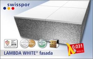 LAMBDA WHITE FASADA - styropian grafitowy z białą powłoką ochronną