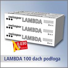 Swisspor LAMBDA 100 DACH PODŁOGA - styropian grafitowy, CS(10)100, lambda 0,030