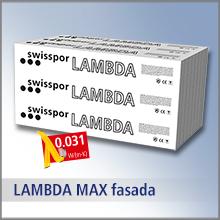 swisspor LAMBDA MAX FASADA - lambda 0,031, TR 100, styropian grafitowy