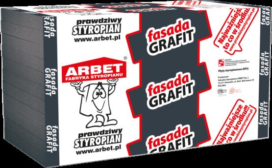 Arbet EPS 031 - Fasada Grafit - grafitowy styropian do ociepleń