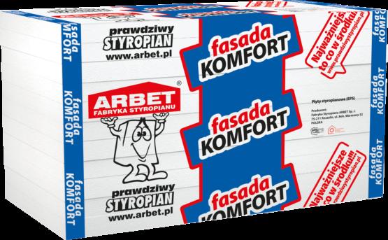 Arbet EPS 042 - Fasada Komfort. Biały styropian do ocieplania ścian domu