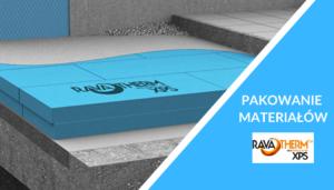 pakowanie styroduru / płyt XPS marki RavaTherm